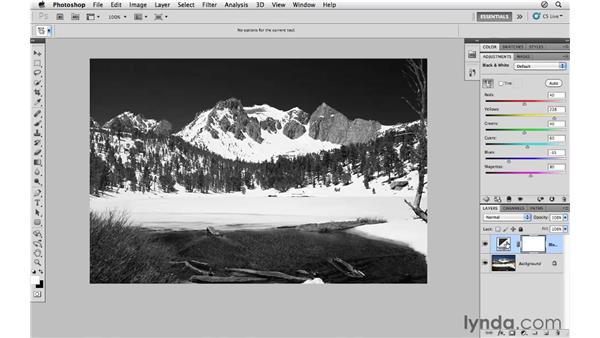 Converting a landscape to black-and-white: Photoshop CS5 for Photographers