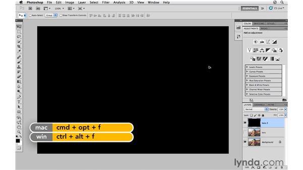 Adding lens flare: Photoshop CS5 for Photographers