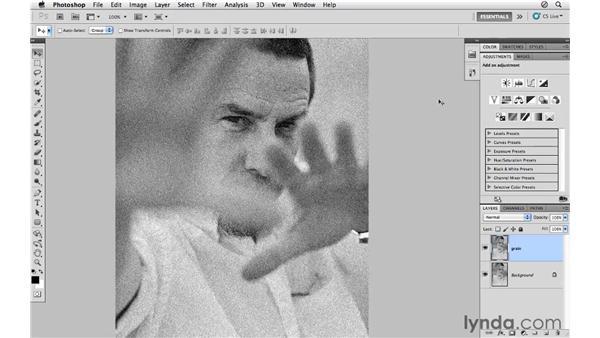 Adding film grain: Photoshop CS5 for Photographers