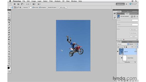 Reducing noise with Surface Blur: Photoshop CS5 for Photographers