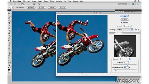 Advanced noise reduction using channels: Photoshop CS5 for Photographers