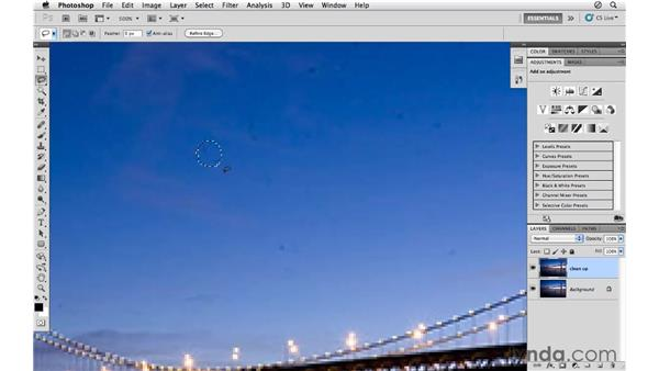 Using the Dust and Scratches filter: Photoshop CS5 for Photographers