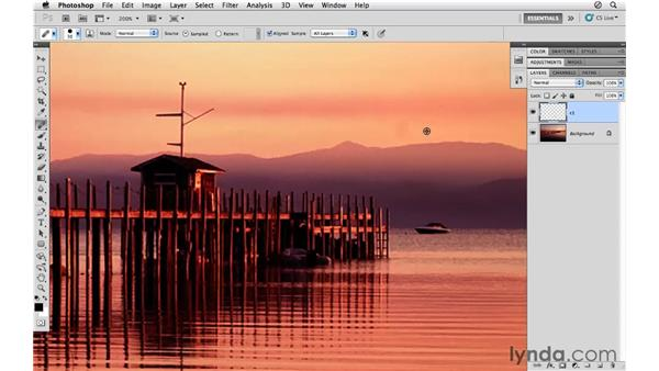 Using the Healing and Clone Stamp tools: Photoshop CS5 for Photographers