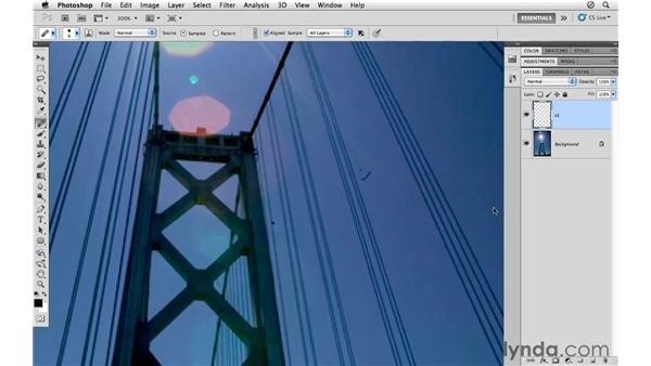 Healing along edges and areas of contrast: Photoshop CS5 for Photographers