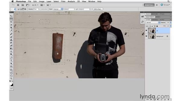 Making multiple selections with Content-Aware Fill: Photoshop CS5 for Photographers