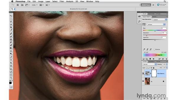 Whitening teeth: Photoshop CS5 for Photographers