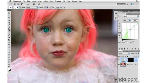 Changing eye color: Photoshop CS5 for Photographers