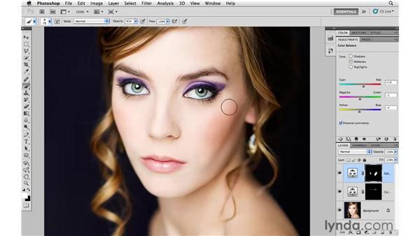 Enhancing makeup: Photoshop CS5 for Photographers