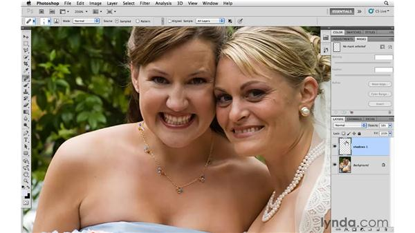 Reducing shadows around eyes: Photoshop CS5 for Photographers