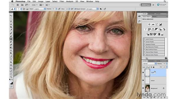 Reducing and removing wrinkles around eyes: Photoshop CS5 for Photographers