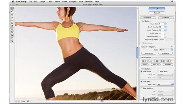 Changing body size and shape with Liquify: Photoshop CS5 for Photographers