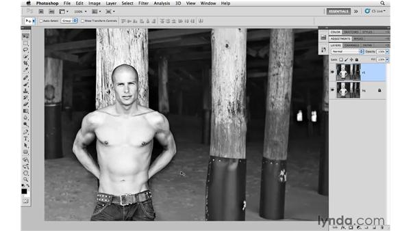 Modifying the body with Puppet Warp: Photoshop CS5 for Photographers