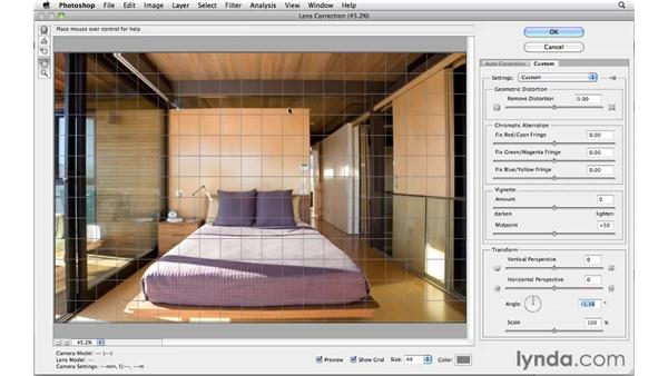 Using the Lens Correction filter: Photoshop CS5 for Photographers