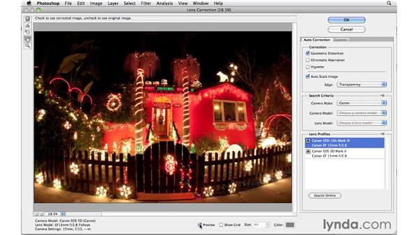 Removing distortion with Automatic Lens Correction: Photoshop CS5 for Photographers