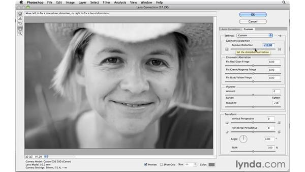 Improving a portrait with Lens Correction: Photoshop CS5 for Photographers