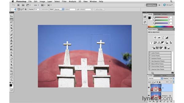 Using Free Transform to correct perspective: Photoshop CS5 for Photographers