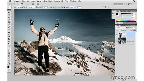 Changing a portrait with Puppet Warp: Photoshop CS5 for Photographers