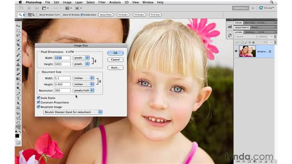 Resizing for the web and email: Photoshop CS5 for Photographers