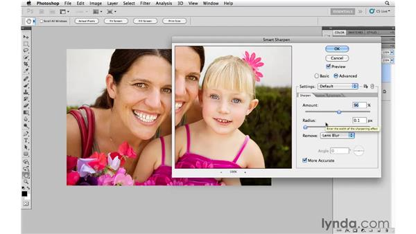 Sharpening for the web and email: Photoshop CS5 for Photographers