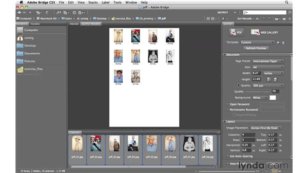 Creating a PDF layout and contact sheets: Photoshop CS5 for Photographers
