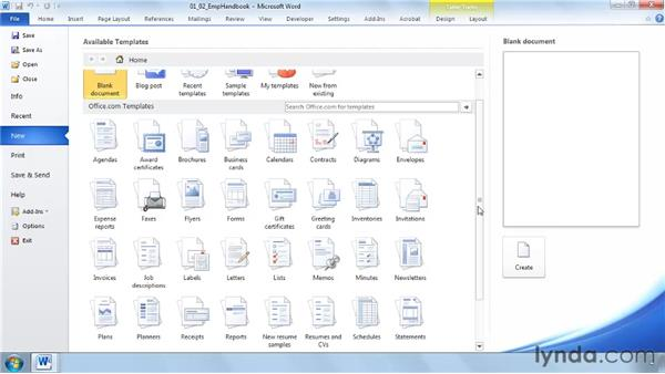 Managing documents with Word Backstage: Word 2010 New Features