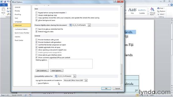 Using advanced text formatting features: Word 2010 New Features