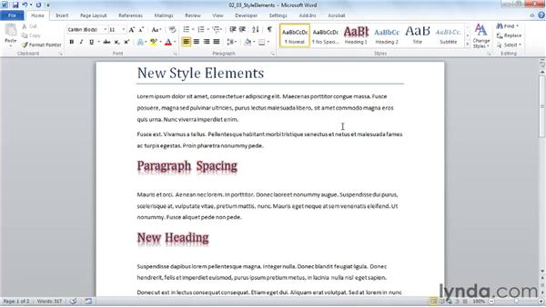 Reusing advanced formatting with styles: Word 2010 New Features