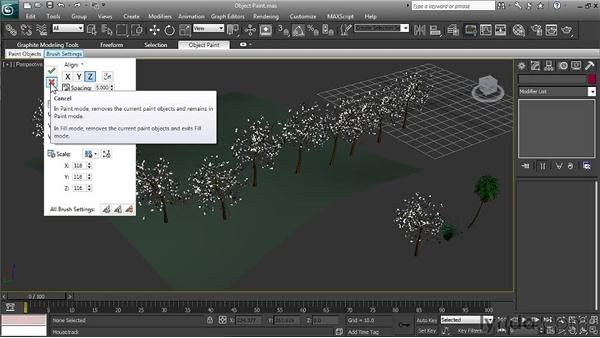 Creating multiple instances with the Object Paint tool: 3ds Max 2011 New Features