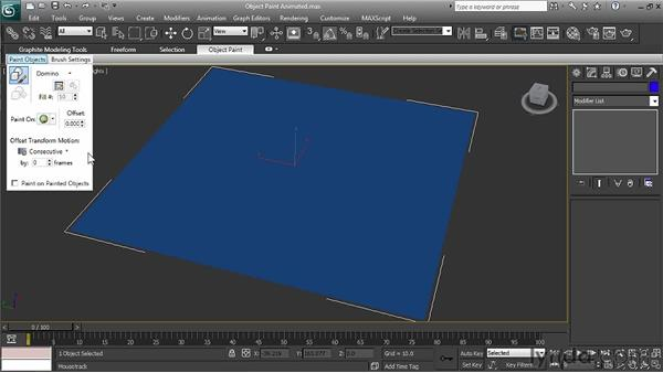 Using animated objects with Object Paint: 3ds Max 2011 New Features