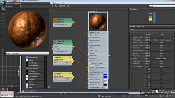 Building a node-based shader : 3ds Max 2011 New Features