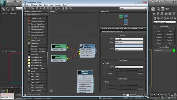 Looking at the Autodesk Material Library  : 3ds Max 2011 New Features