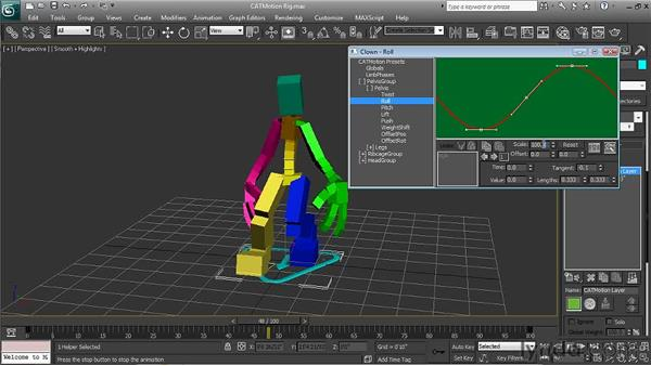 Creating walk cycles with CATMotion: 3ds Max 2011 New Features