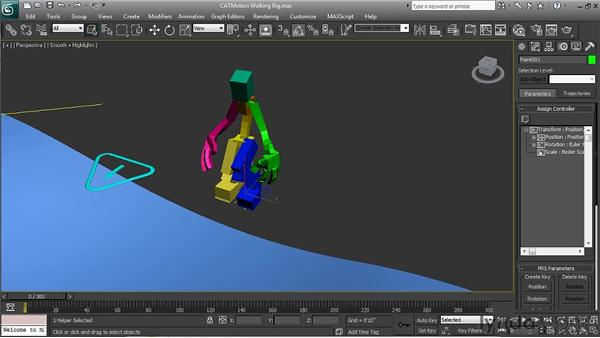 Using CATMotion footprints: 3ds Max 2011 New Features