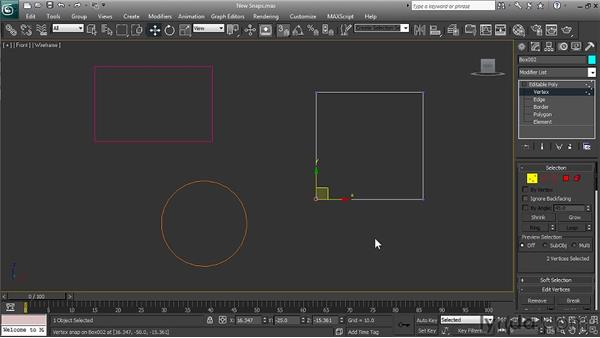 Using the improved snap functionality: 3ds Max 2011 New Features