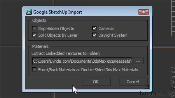 Using the SketchUp importer : 3ds Max 2011 New Features