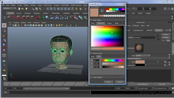 Exploring the new Color Picker: Maya 2011 New Features