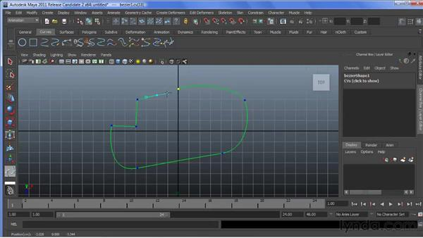 Working with Bezier curves: Maya 2011 New Features
