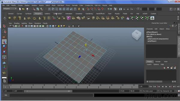 Using the Connect Components tool: Maya 2011 New Features