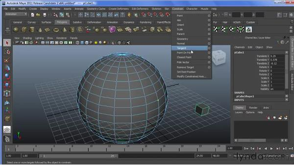 Constraining objects to polys: Maya 2011 New Features