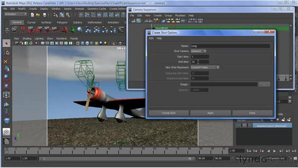 Using the Camera Sequencer: Maya 2011 New Features
