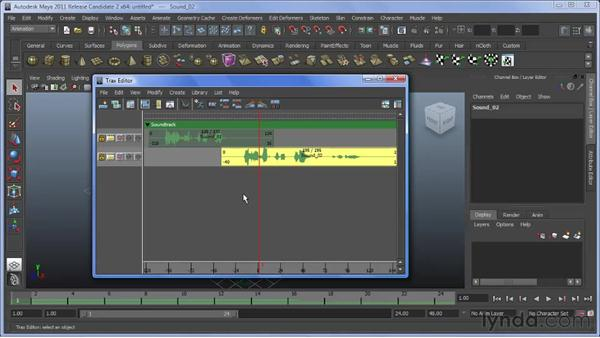Working with multiple audio files: Maya 2011 New Features