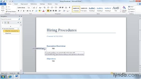 Co-authoring documents: SharePoint 2010 New Features