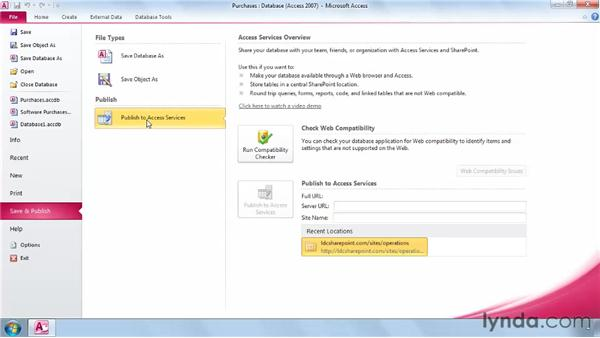 Introduction to Access Services: SharePoint 2010 New Features