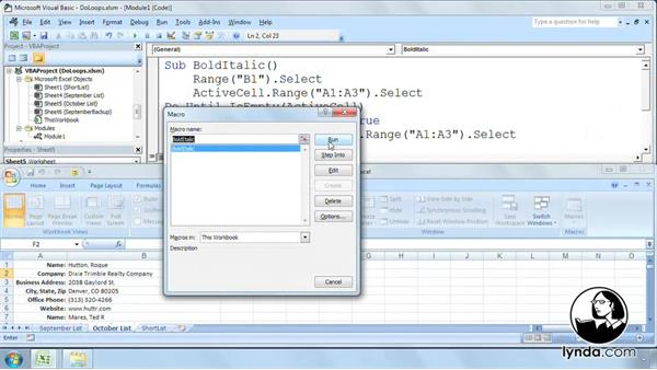 Welcome: Excel 2007: Macros in Depth