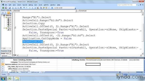 Using loop structures in context: Excel 2007: Macros in Depth