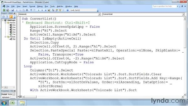 Streamlining macros: Excel 2007: Macros in Depth