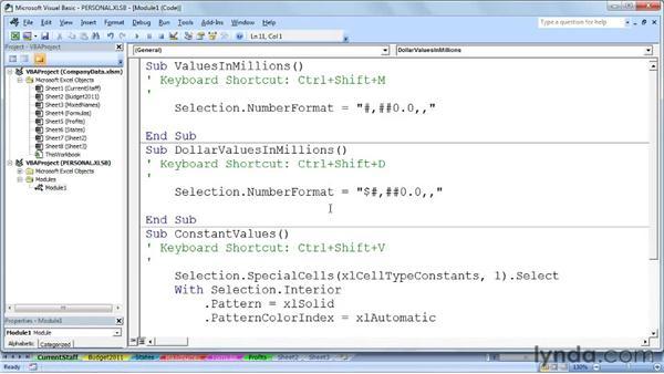 Closing and updating the personal macro workbook: Excel 2007: Macros in Depth