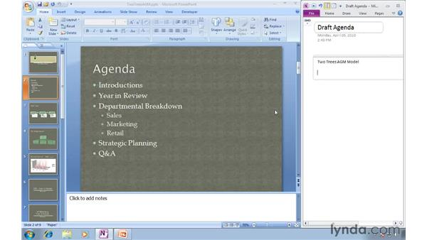 Docking your OneNote window: OneNote 2010 New Features
