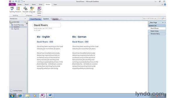 Translating text with the mini-translator: OneNote 2010 New Features