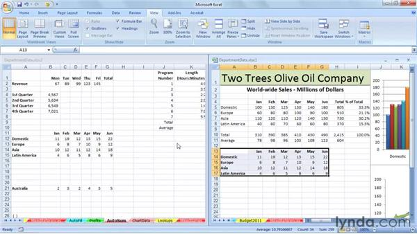 Copying data and inserting it on different sheets: Excel 2007: Managing Multiple Worksheets and Workbooks